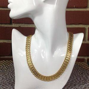 Vintage Monet Gold Necklace STUNNING!!